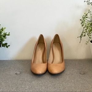 🔸2 for 15$ Tan high heels rounded pointed toe